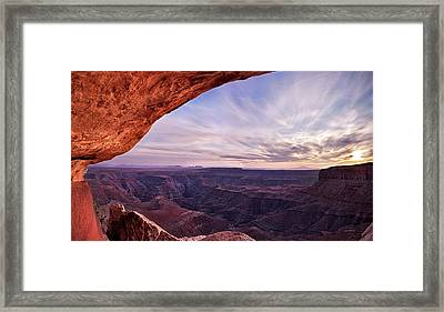 San Juan River Goosenecks Framed Print by Leland D Howard