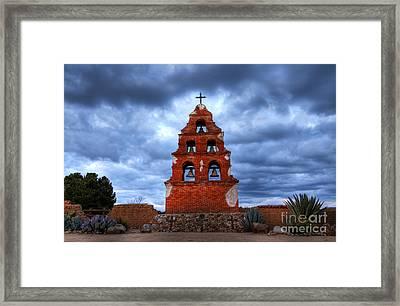 San Miguel Mission Framed Print by Bob Christopher