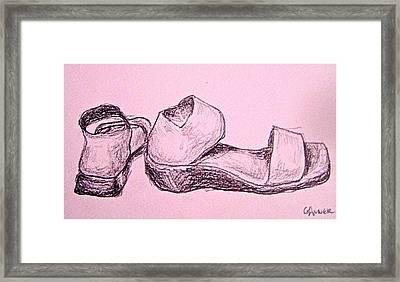 San Miguel Sandals Framed Print by Gloria Avner
