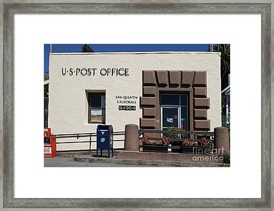 San Quentin Post Office In California - 7d18549 Framed Print by Wingsdomain Art and Photography