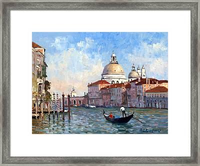 San Salute Venice Framed Print by Roelof Rossouw