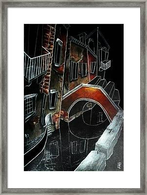 San Stae - Arti Grafiche Venezia Italia Framed Print by Arte Venezia