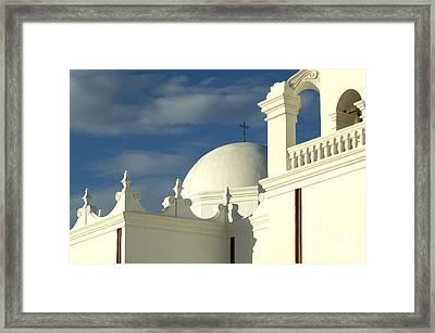San Xavier Del Bac Mission Arizona Framed Print by Bob Christopher