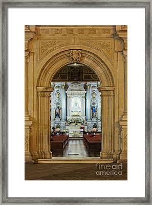Sanctuary Of La Basílica De La Virgen De La Soledad Framed Print by Jeremy Woodhouse