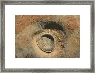 Sand And Rock Swirl Framed Print