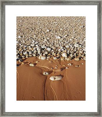 Sand And Shingle Framed Print by Michael Marten