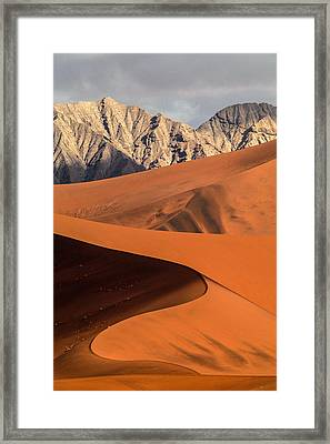 Sand And Stone Framed Print
