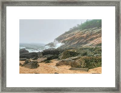 Framed Print featuring the photograph Sand Beach - Acadia by Mary Hershberger