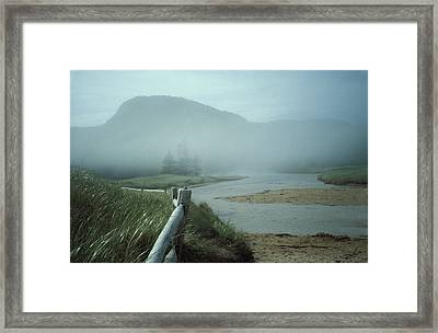 Framed Print featuring the photograph Sand Beach Fog by Brent L Ander