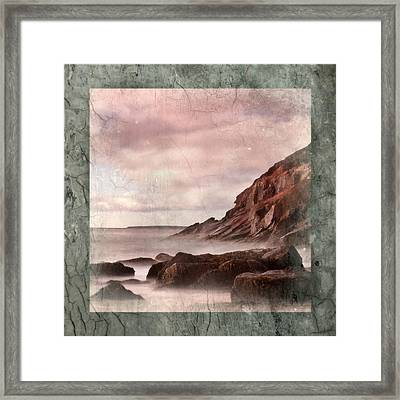 Sand Beach In Texture Framed Print by Don Powers