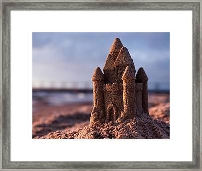 Sand Castle Framed Print by Bob Nardi