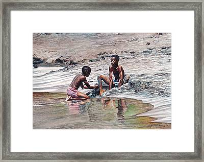 Sand Castle Framed Print by Gregory Jules