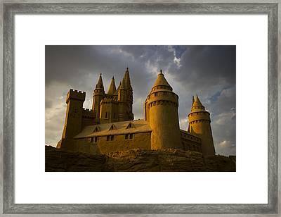 Sand Castle Horizontal Framed Print