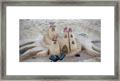 Sand Castle Framed Print by Karen Elzinga