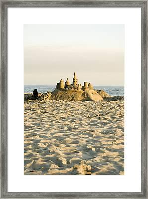 Sand Castle On East Beach Framed Print by James Forte