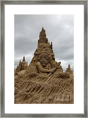 Sand Castles Framed Print by Sophie Vigneault