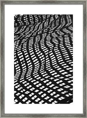 Sand Checkers Framed Print