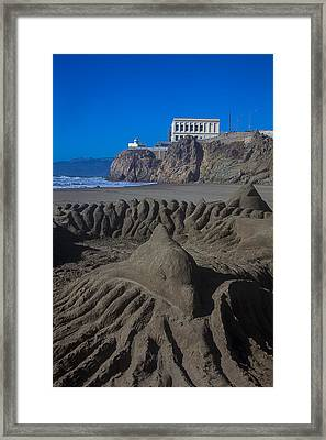 Sand Dolphin Framed Print by Garry Gay