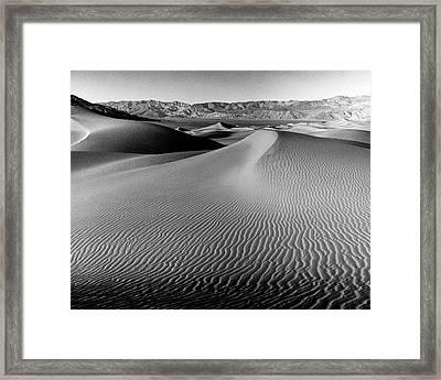 Sand Dune-death Valley Framed Print
