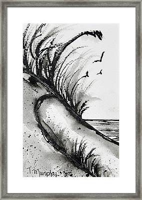 Sand Dune Drawing Framed Print by Tracee Murphy