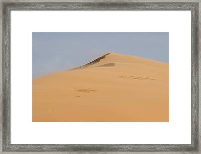 Sand Dune Framed Print by Heather Applegate