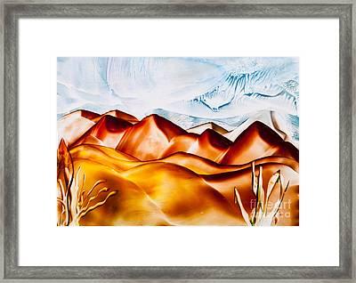Sand Dune Hills Painting Framed Print by Simon Bratt Photography LRPS