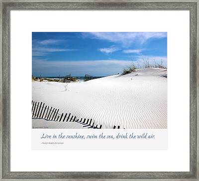 Sand Dunes Dream 3 Framed Print by Marie Hicks