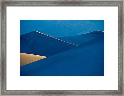 Sand Dunes Sunrise Framed Print by Steve Gadomski