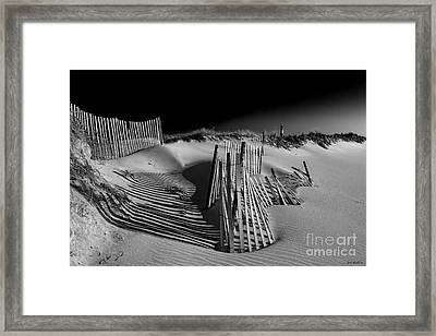 Sand Fence Framed Print by Jim Dohms