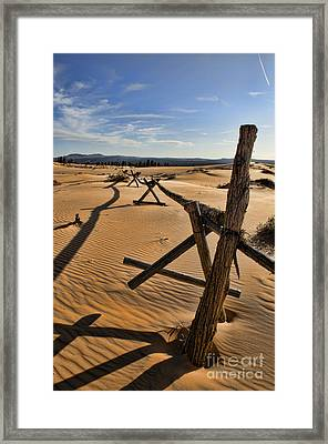 Sand Framed Print by Heather Applegate
