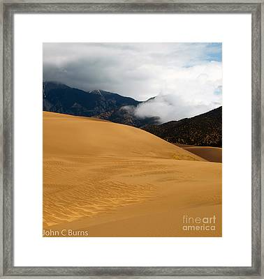 Framed Print featuring the photograph Sand In The Mountains by John Burns