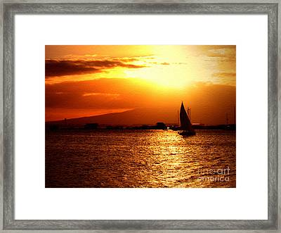 Sand Island Sunset 1 Framed Print