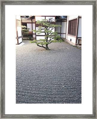 Sand Japanese Garden Framed Print