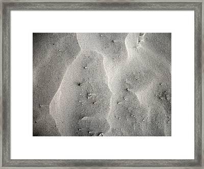 Sand Made Of Quartz Framed Print by Skyler Tipton