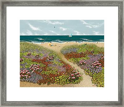 Sand Path Framed Print