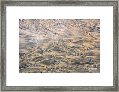 Sand Patterns Framed Print by Nareeta Martin