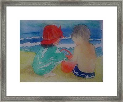 Sand Play Framed Print by Judi Goodwin