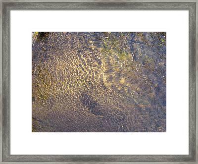 Sand Reflection Framed Print by Christine Hafeman