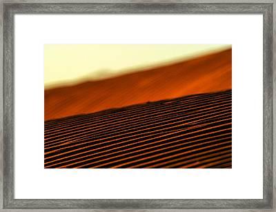 Sand Rows Framed Print