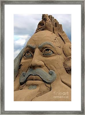 Sand Sculpture Framed Print by Sophie Vigneault