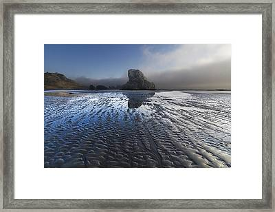 Sand Sculptures Framed Print by Debra and Dave Vanderlaan
