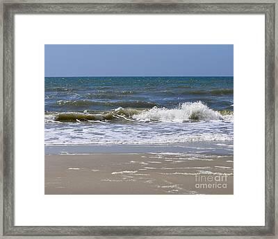 Sand Sea And Sky Framed Print by Al Powell Photography USA