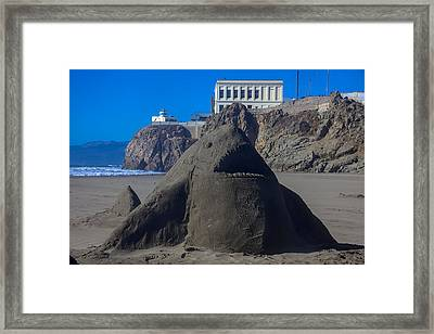 Sand Shark At Cliff House Framed Print by Garry Gay