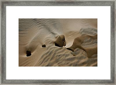 Sand Texture At Kelso Framed Print