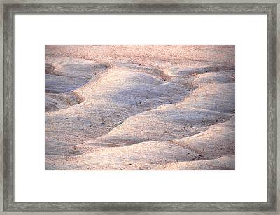Sand Waves Framed Print