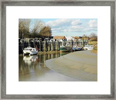Sandbanks And Boats Framed Print