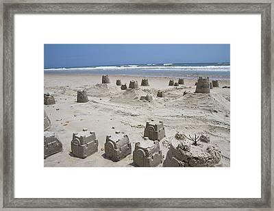 Sandcastle Framed Print by Betsy Knapp