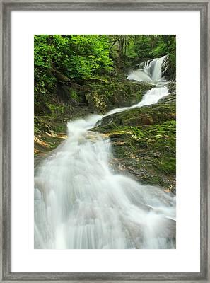 Sanderson Brook Falls Westfield River Framed Print by John Burk
