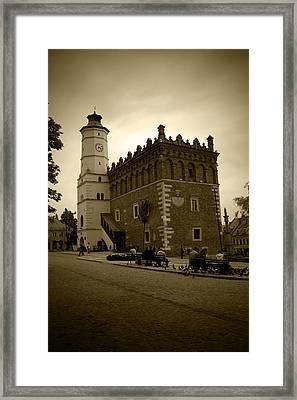 Sandomierz Sepia Framed Print by Kamil Swiatek