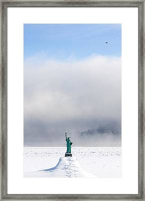 Sandpoint Liberty Framed Print by Marie-Dominique Verdier